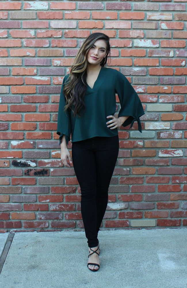 In or Out of The Office Blouse  in Ponderosa Green
