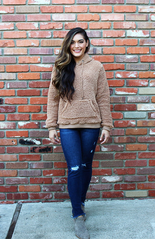 Teddy Bear Sweater in Camel