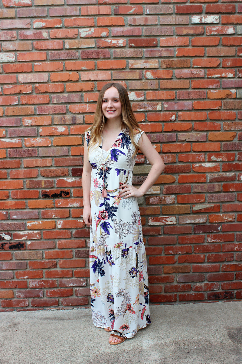 Bird Of Paradise Tropical Floral Print Maxi Dress by Love Stitch