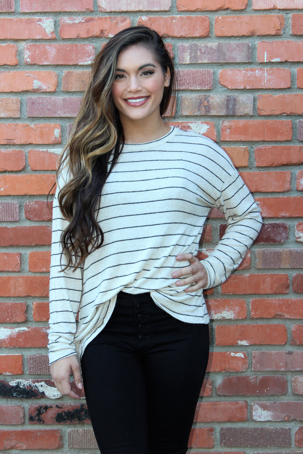 Twist of Fate Striped Top
