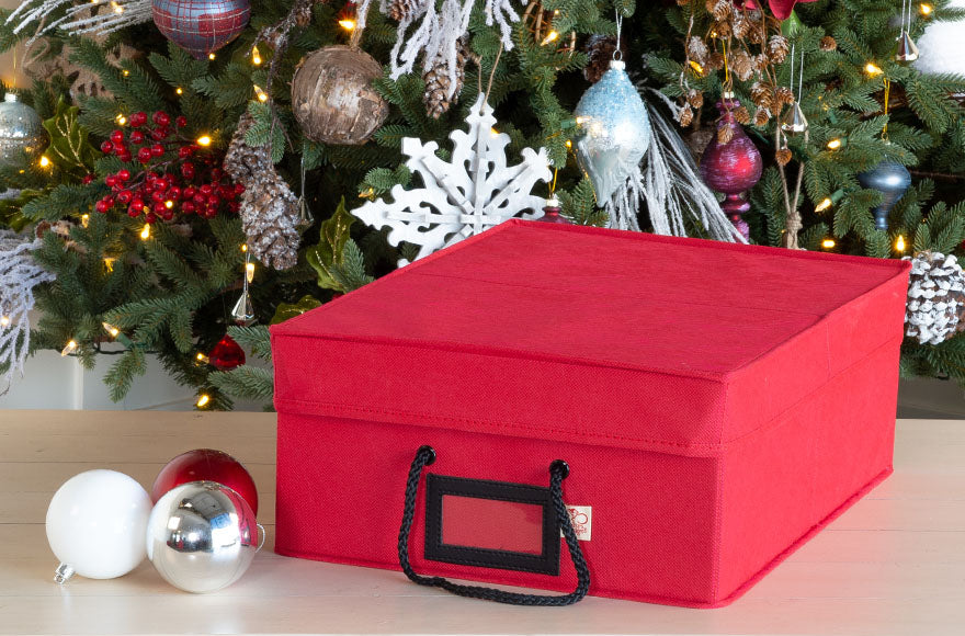 Santa's Bags Three Tray Ornament Storage Box