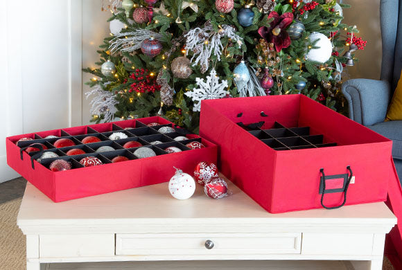 Santa's Bags two Tray Ornament Storage Box