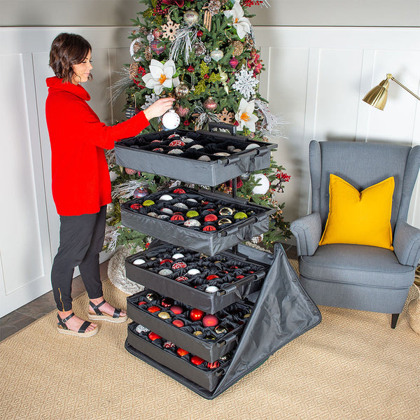Telescoping Adjustable Ornament Storage (120 Ornaments)