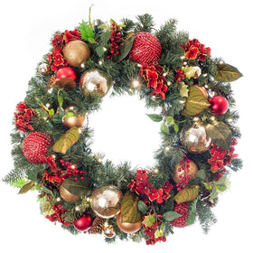 Scarlet Hydrangea Wreath | Christmas World