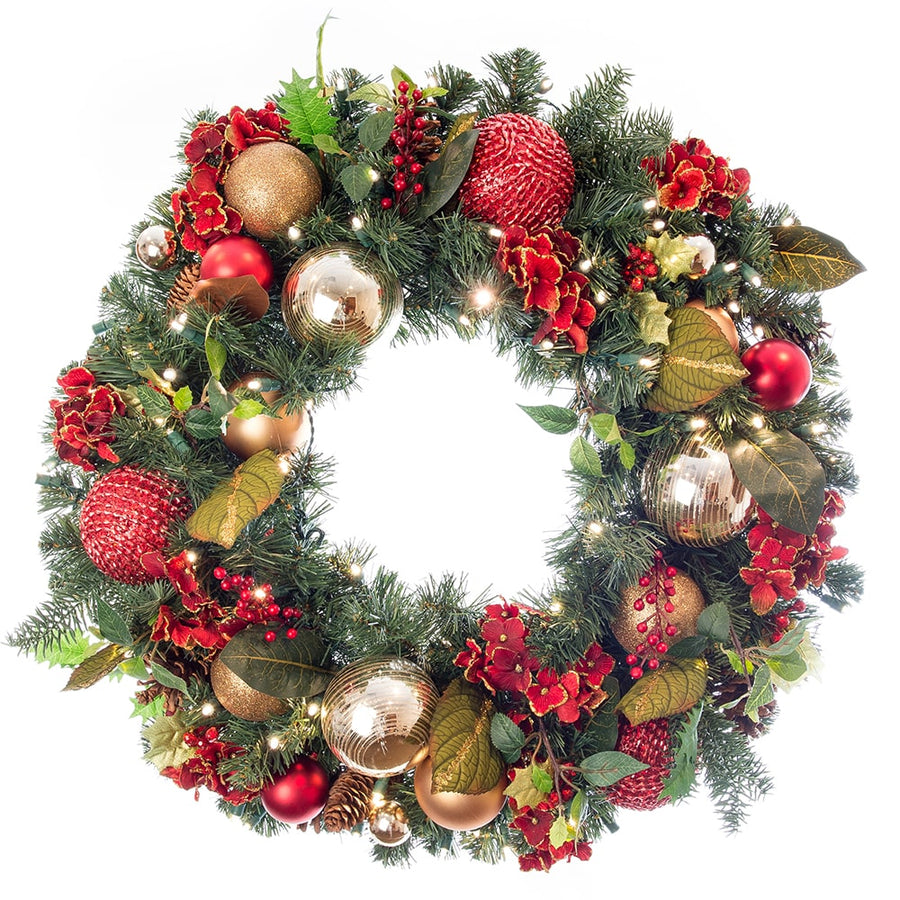 Wreath_Scarlet Hydrangea Wreath  |  Christmas World | Christmas World