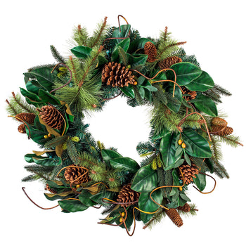 Magnolia Leaf Decorated Wreath