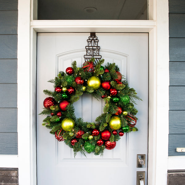 Festive Holiday Decorated Wreath