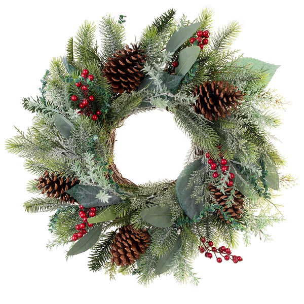 Wreath_Winter Frost Decorated Wreath 24"