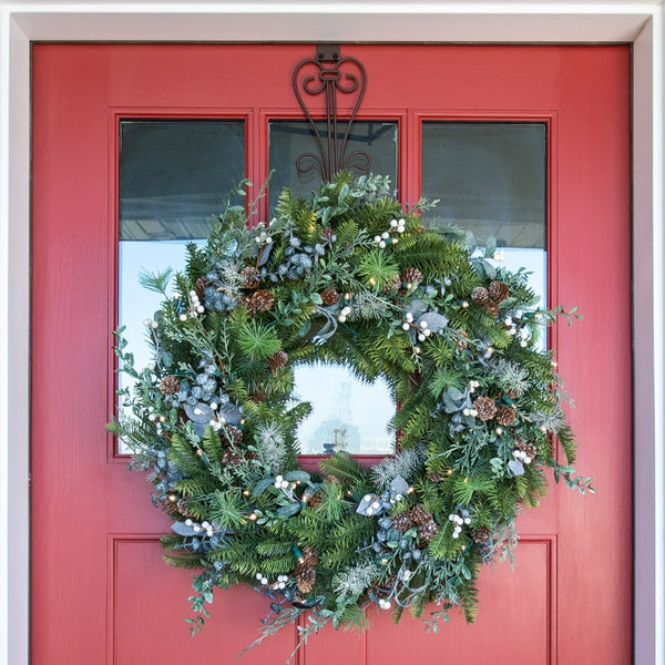 Wreath_Rustic White Berry Wreath  |  Christmas World