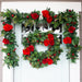 Red Peony & Berries Wreath (30-Inch) Thumbnail | Christmas World