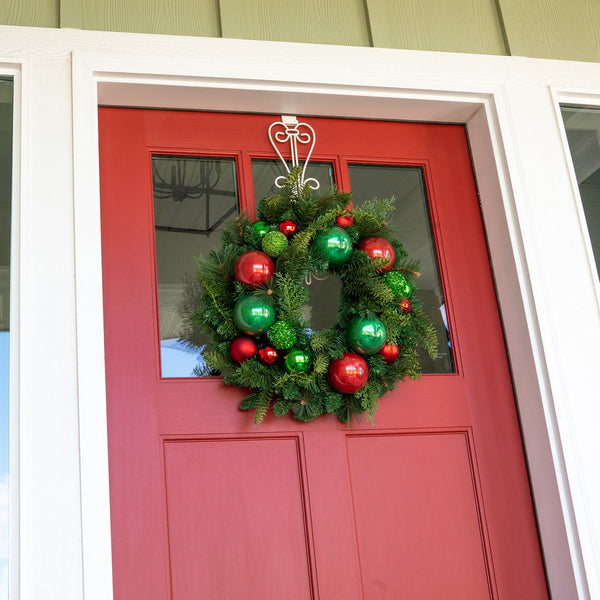 Christmas Cheer Red & Green Wreath - 24 Inch