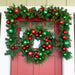 Christmas Cheer Red & Green Garland - 9 Foot Thumbnail | Christmas World