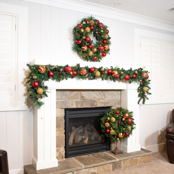 Christmas Classic Red & Gold Garland - 9 Foot