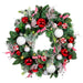 Nordic Red and White Wreath (30-Inch) Thumbnail | Christmas World