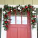 Nordic Red and White Garland (9-Foot) Thumbnail | Christmas World
