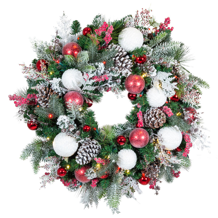 Frosted Wonderland Wreath (30-Inch) | Christmas World
