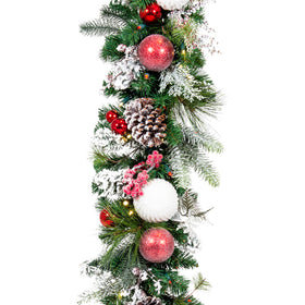 Frosted Wonderland Garland (9-Foot) | Christmas World