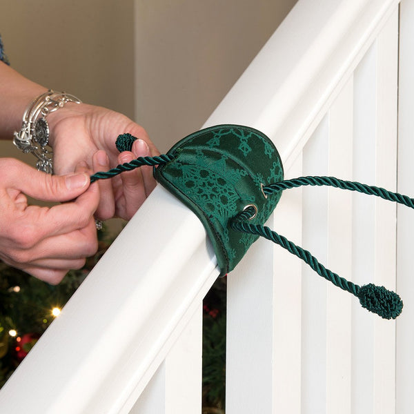 Garland Hanger_Banister Saver™ Garland Ties  |  Christmas World