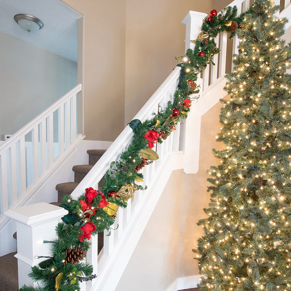 Garland Hanger_Banister Protecting Garland Ties  |  Christmas World