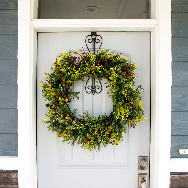 Wreath_Christmas Boxwood & Berry Wreath  |  Christmas World