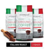 Italian Roast Ground Coffee (3 Packs of 12oz)
