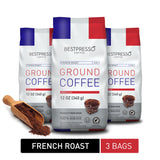French Roast Ground Coffee (3 Packs of 12oz)
