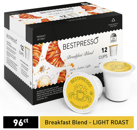 Breakfast Blend - Light Roast - 96 Count  (Compatible with 2.0 Keurig Brewers)