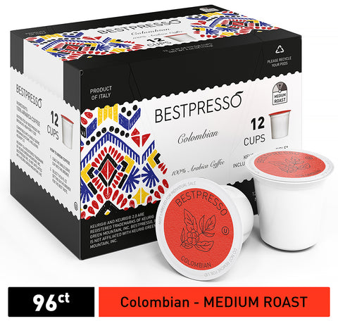 Colombian Roast - Medium Roast - 96 Count  (Compatible with 2.0 Keurig Brewers)