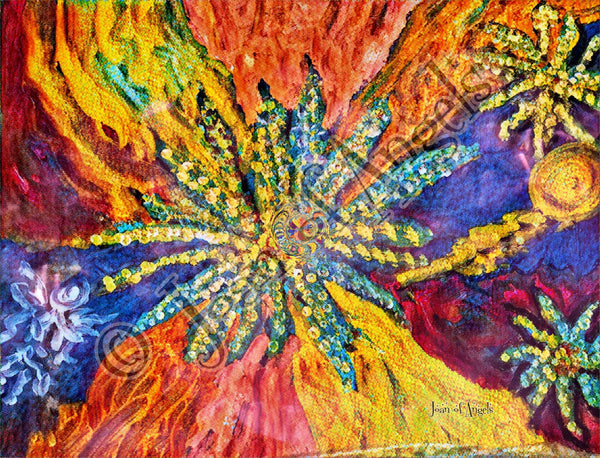 Canna Rainbow Swirl Giclee Print on Canvas