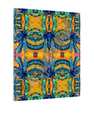 Geometric Patterns within the Canna Flower Giclee Art Print on Canvas