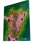 Pink Giraffe Giclee Print on Canvas