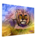 Mystical Rainbow Lioness Giclee Print on Canvas