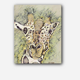 Wise Giraffe Giclee on Print