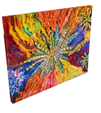 Canna Rainbow Swirl Giclee Art Print on Canvas