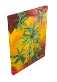 Dancing Among the  Canna Weeds Giclee Art Print on Canvas