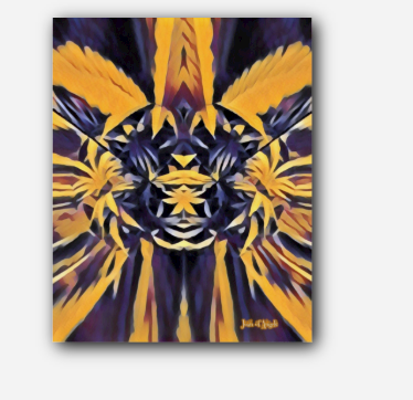 Golden Spirit Guide Canna Giclee Art Print on Canvas