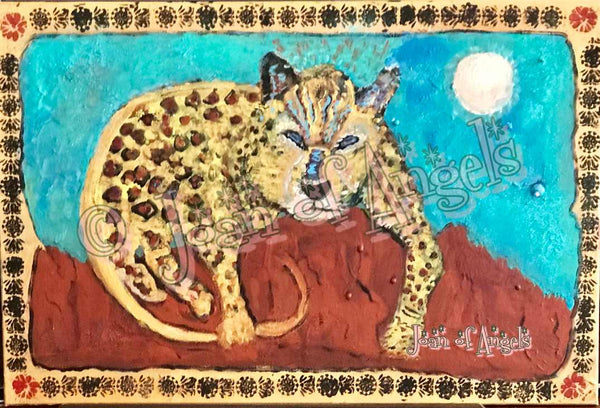 The Leopards Gaze Prints on Canvas (Giclee)
