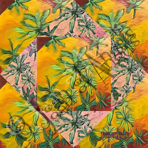 Dancing with the Spirit of Cannabis Giclee Print on Canvas