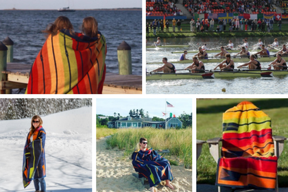 Our Crew And Oars Rowing Blanket and Throw - ChappyWrap Product Spotlight