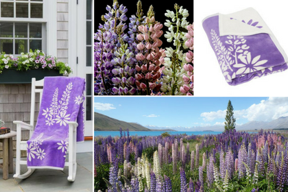 Our Purple Lupine Blanket and Throw - ChappyWrap Product Spotlight