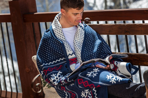 Snowflake Fair Isle Blanket and Throw - Top Ten Winter Blankets by ChappyWrap