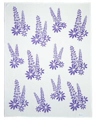 beach flower blanket and throw by chappywrap purple lupine flower blanket
