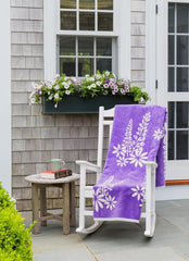 Purple Lupine Flower Blanket and Throw By ChappyWrap