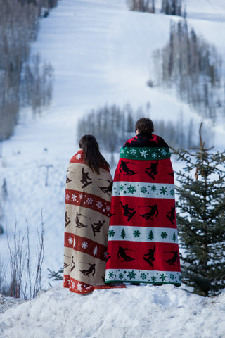 holiday blanket and throw for mountain cabin home by chappywrap