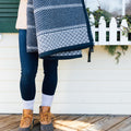 Long Wharf Herringbone Navy Blanket