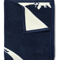 Cape and Islands Navy Blanket