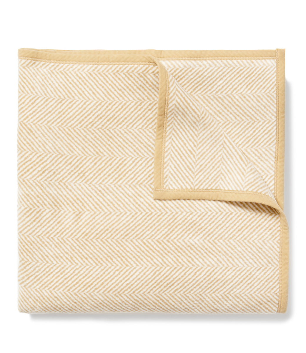 Harborview Herringbone Beige Royal Blanket