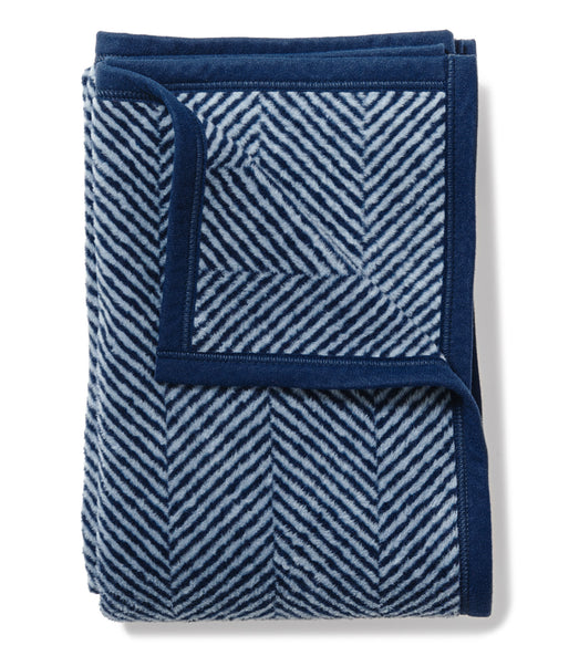Harborview Herringbone Navy Midi Blanket