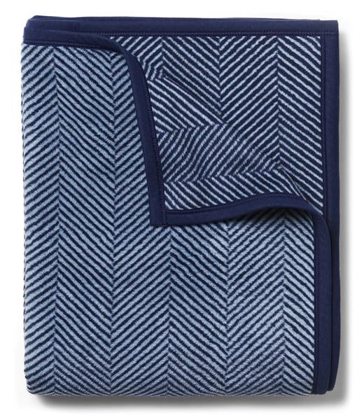 Harborview Herringbone Navy Original Blanket
