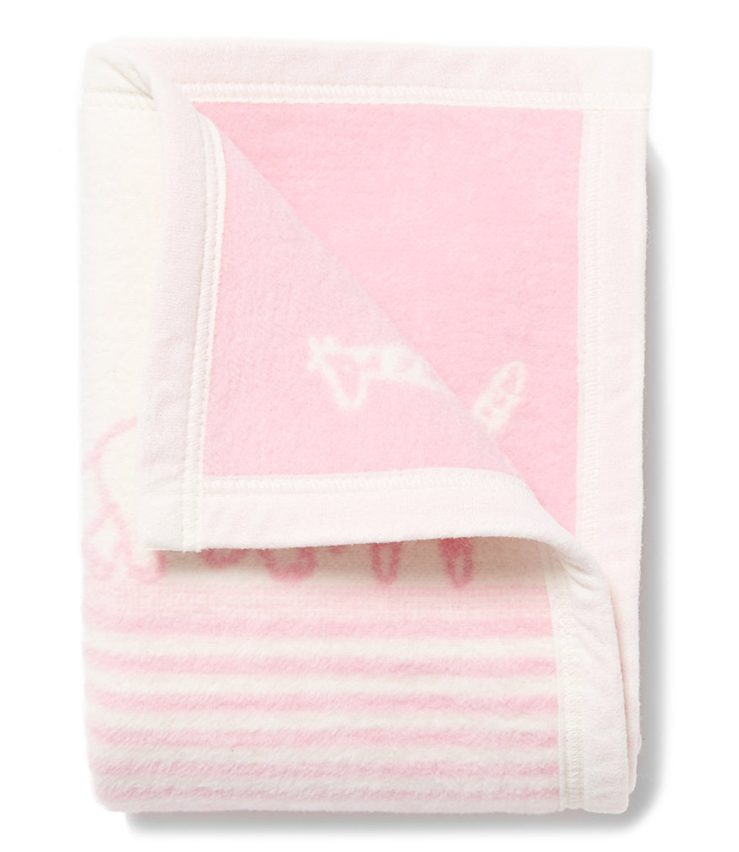 Jungle Walk Pink Mini Blanket